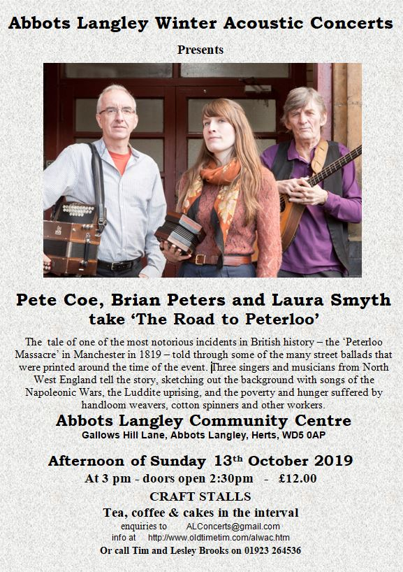 The Road to Peterloo  poster