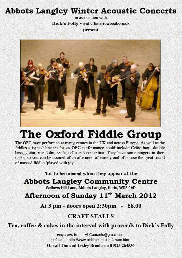 Oxford Fiddle Group Poster