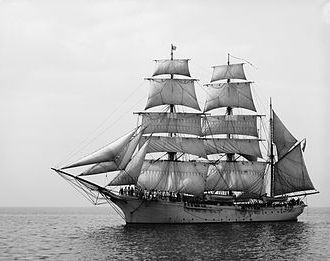 Three-masted barque (US Revenue Cutter Salmon P. Chase, 1878�1907)